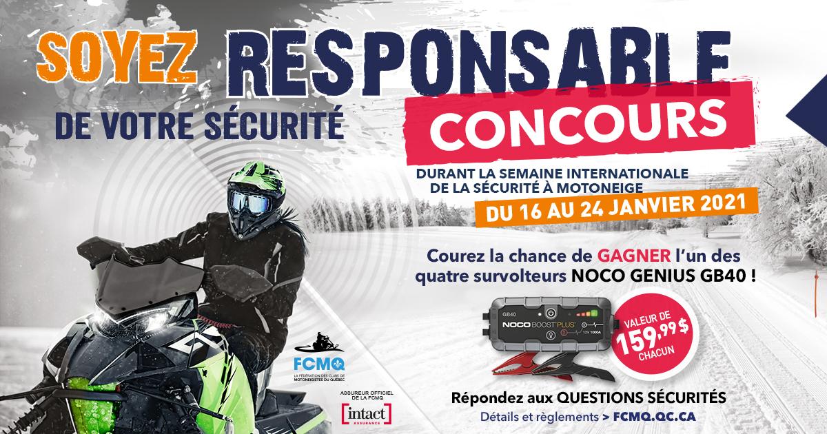 Concours sécurité motoneige