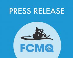 PRESS RELEASE TO SNOWMOBILERS AND CLUB VOLUNTEERS